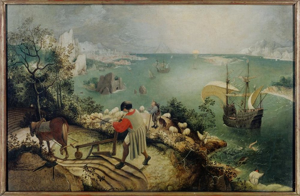 Pieter Bruegel's Landscape with the Fall of Icarus (1555-58)