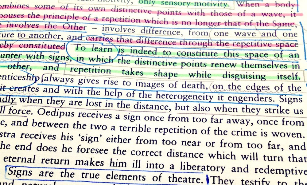 Deleuze, Difference and Repetition, pg. 23