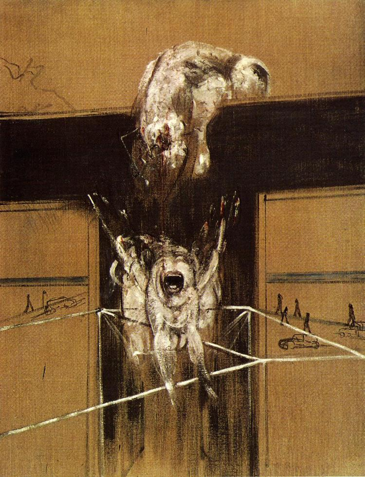 Bacon, Francis. Fragment of a Crucifixion (1950).